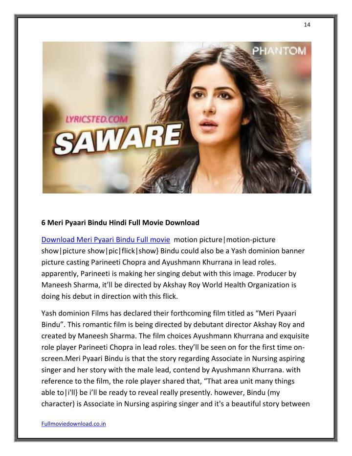 meri pyaari bindu full movie online watch free filmywap