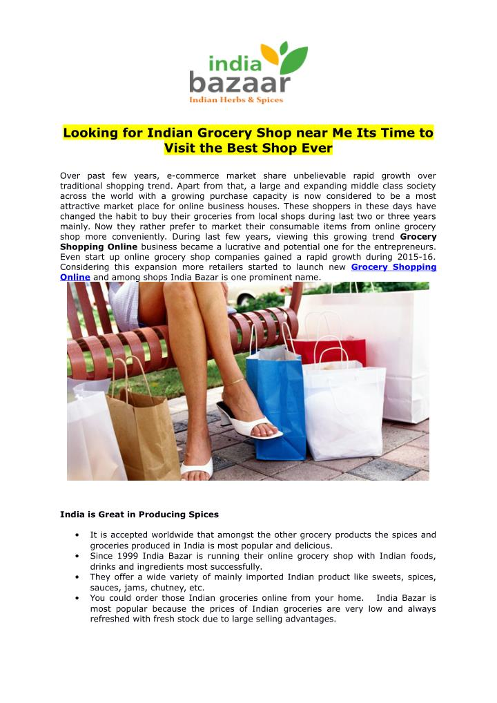 Ppt Looking For Indian Grocery Shop Near Me Its Time To