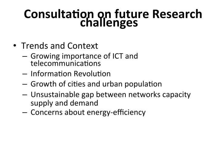 Consulta7on on future research challenges1