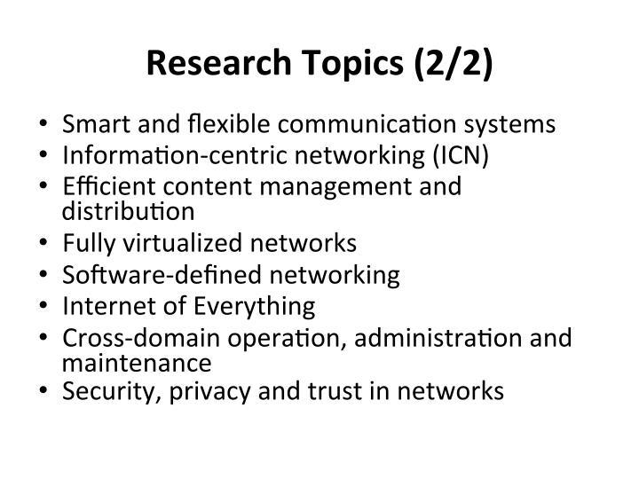 Research  Topics  (2/2)