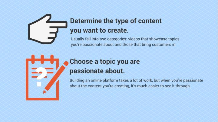 Determine the type of content you want to create