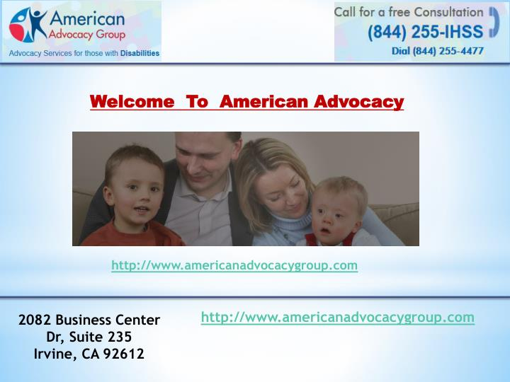 welcome to american advocacy n.