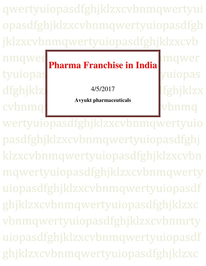 Ppt pharma franchise in india powerpoint presentation, free.