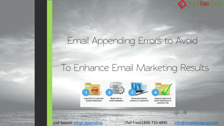 list source email appending n.