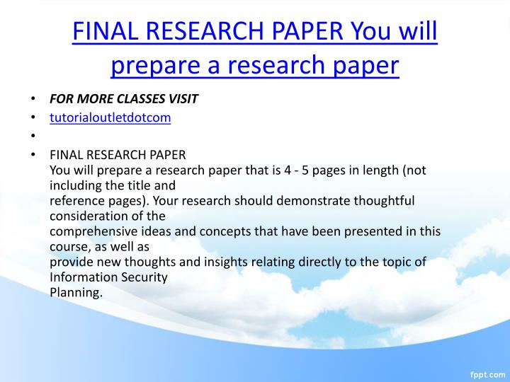 research paper reference page
