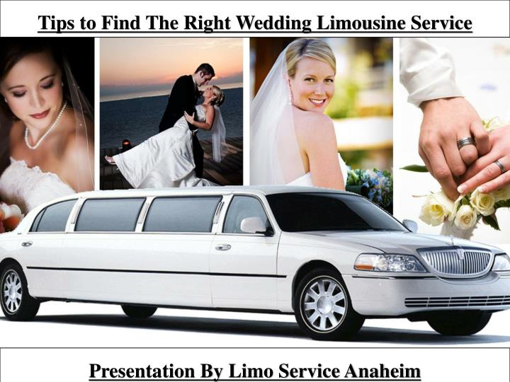 tips to find the right wedding limousine service n.