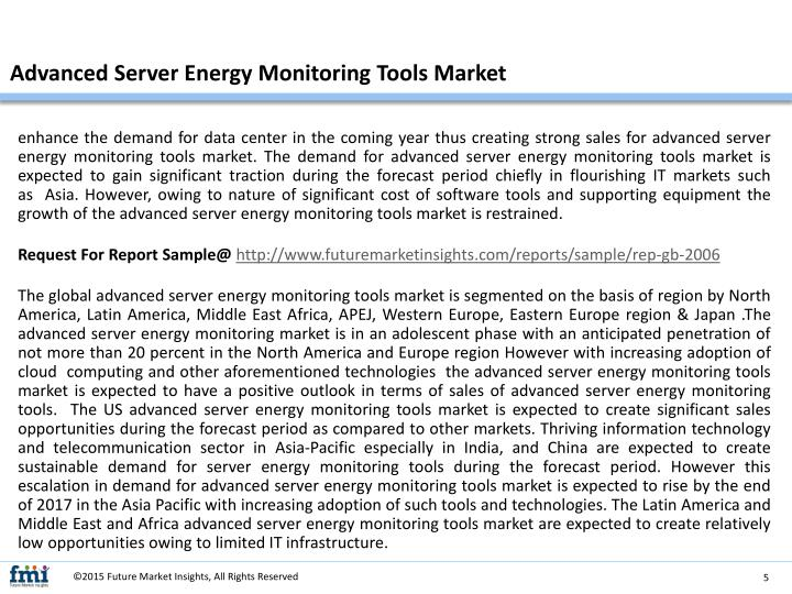 Demand Energy Monitoring Software : Ppt advanced server energy monitoring tools market in