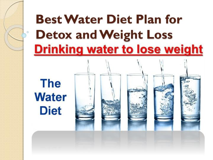 Detox diet for weight loss plan