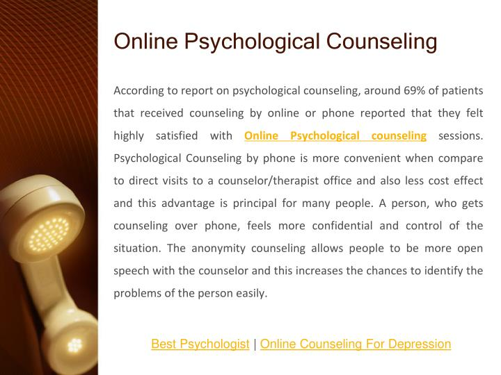 psychology and free counseling session Advice home counseling is free counseling right for you be covered for at least one free thirty minute counseling session a a phd in psychology).