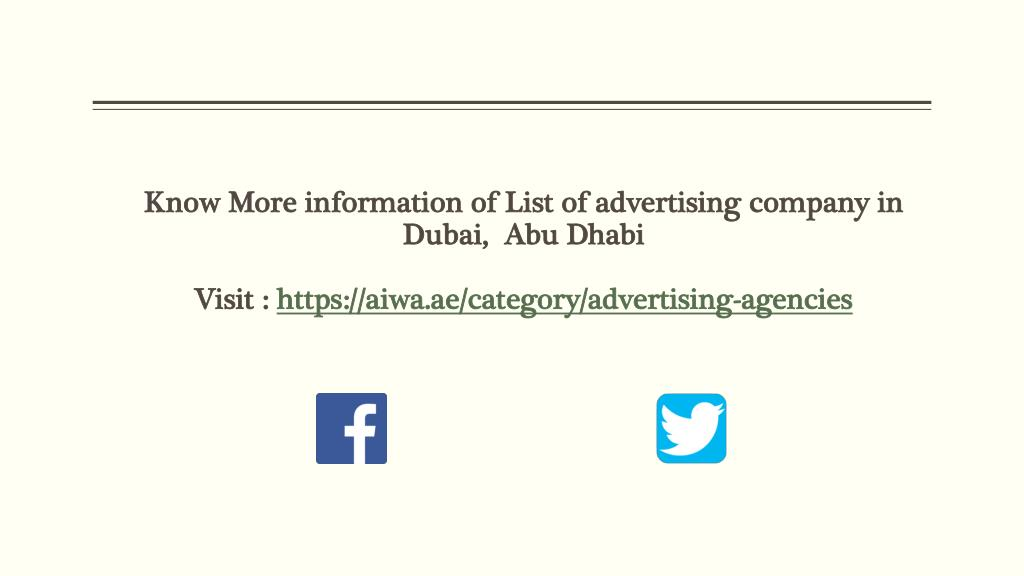 PPT - List of advertising company in Dubai PowerPoint