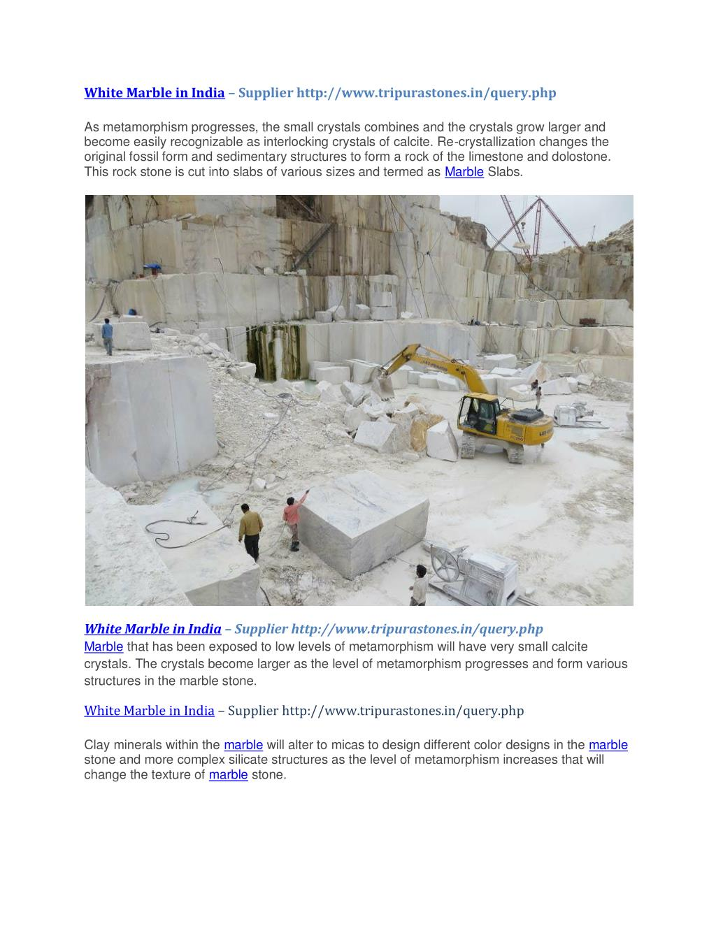 PPT - White Marble in India-Supplier Tripura Stones