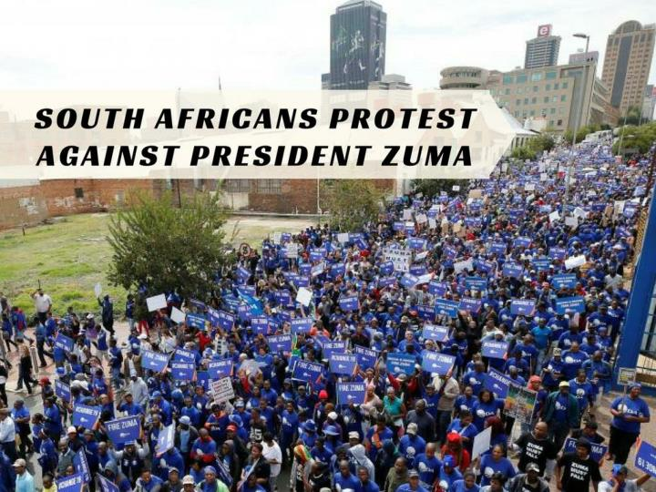 south africans protest against president zuma n.