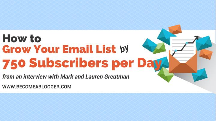how to grow your email list 750 subscribers n.