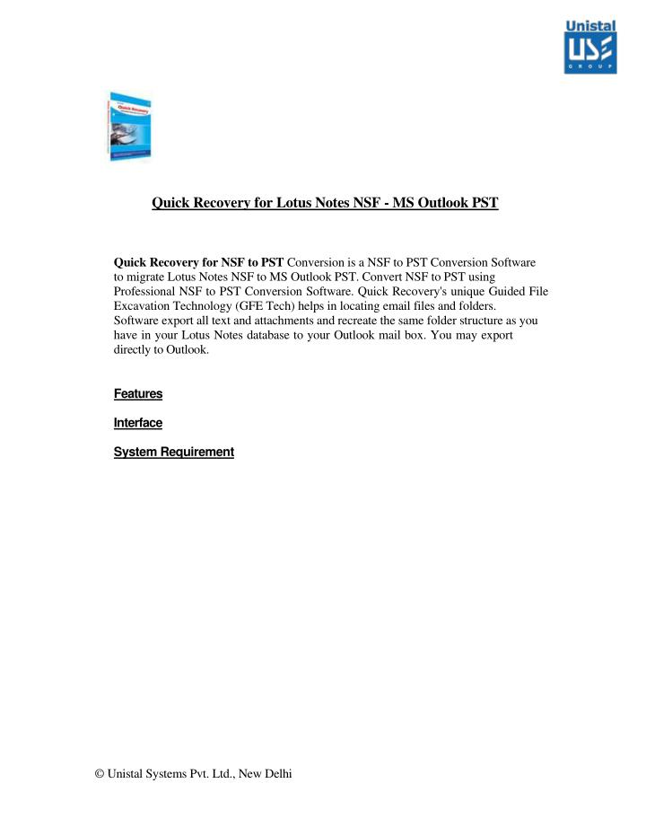 quick recovery for lotus notes nsf ms outlook n.