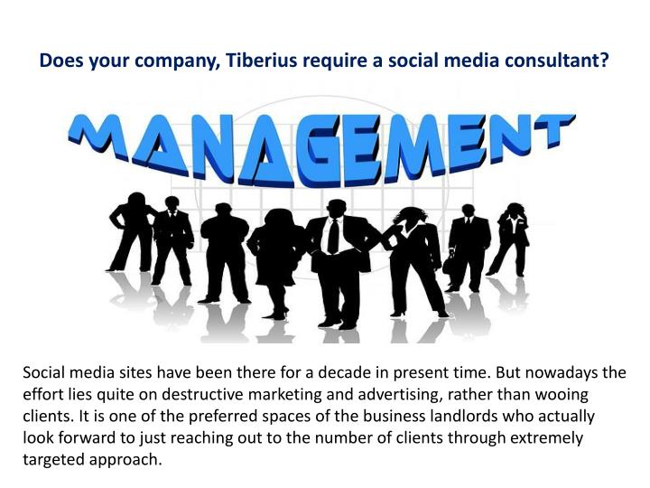 does your company tiberius require a social media n.