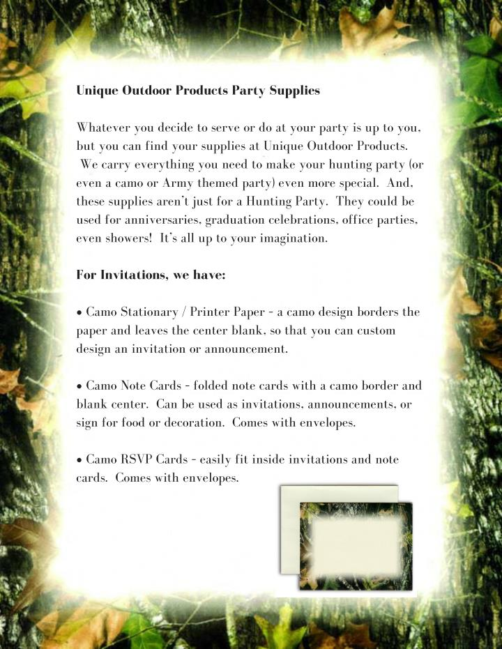 PPT - Camo Party Supplies Hunting Themed Party PowerPoint ...