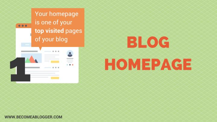 Your homepage is one of your top visited pages