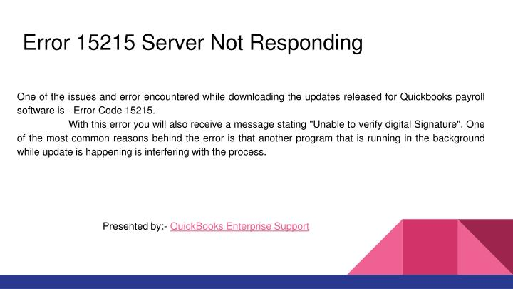PPT - Quickbooks Pro error 15215 PowerPoint Presentation - ID:7550848