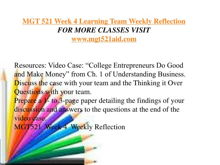 mgt 521 week 6 learning team Mgt 521 week 6 learning team reflection home wish list (0) my account shopping cart checkout tutorial bucket custom help contact blog mgt 521 week.
