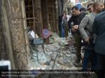 egyptians look at victims after suicide bombing