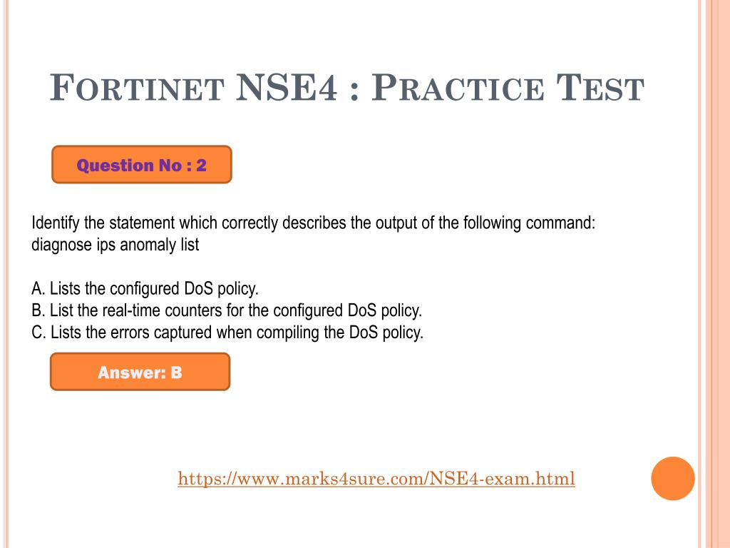 PPT - Fortinet NSE4 Dumps Questions PowerPoint Presentation