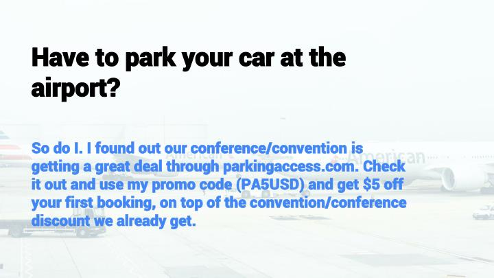 Don't waste time searching for parking, choose off-airport parking and get money saving coupons