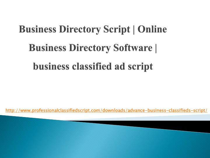 business directory script online business directory software business classified ad script n.