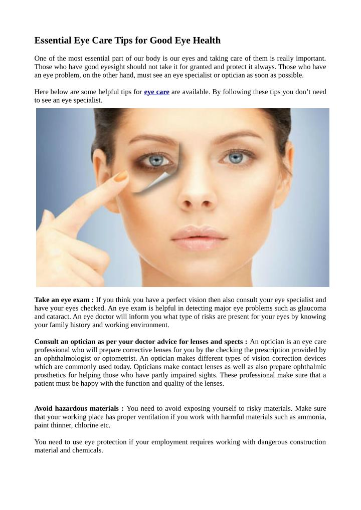 b36d568956c PPT - Essential Eye Care Tips for Good Eye Health PowerPoint ...