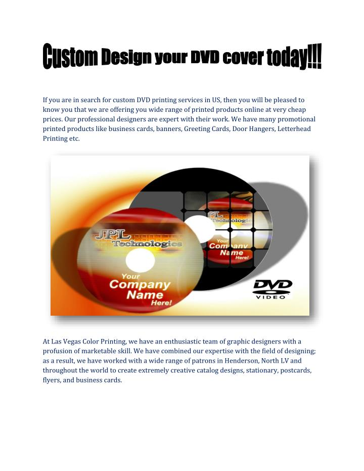Ppt custom design your dvd cover powerpoint presentation id7552334 if you are in search for custom dvd printing services in us reheart Gallery
