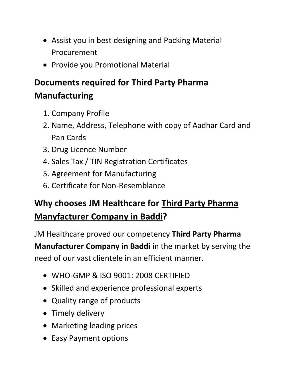 PPT - Third Party Pharma Manufacturer Company in Baddi