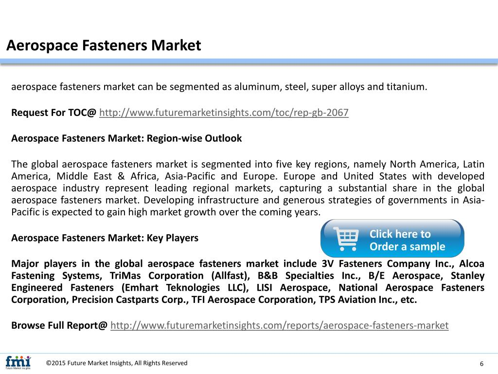 PPT - Aerospace Fasteners Market : Growth, Demand and Key
