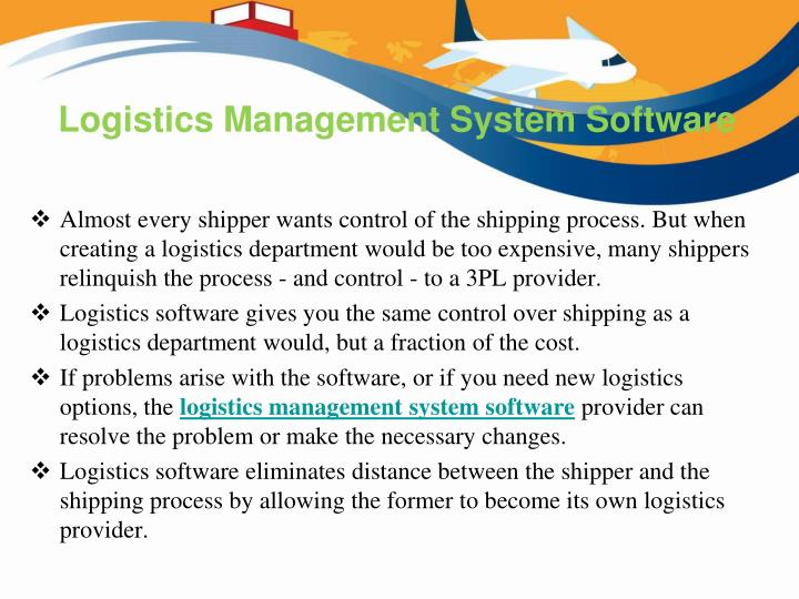 logistics management system software