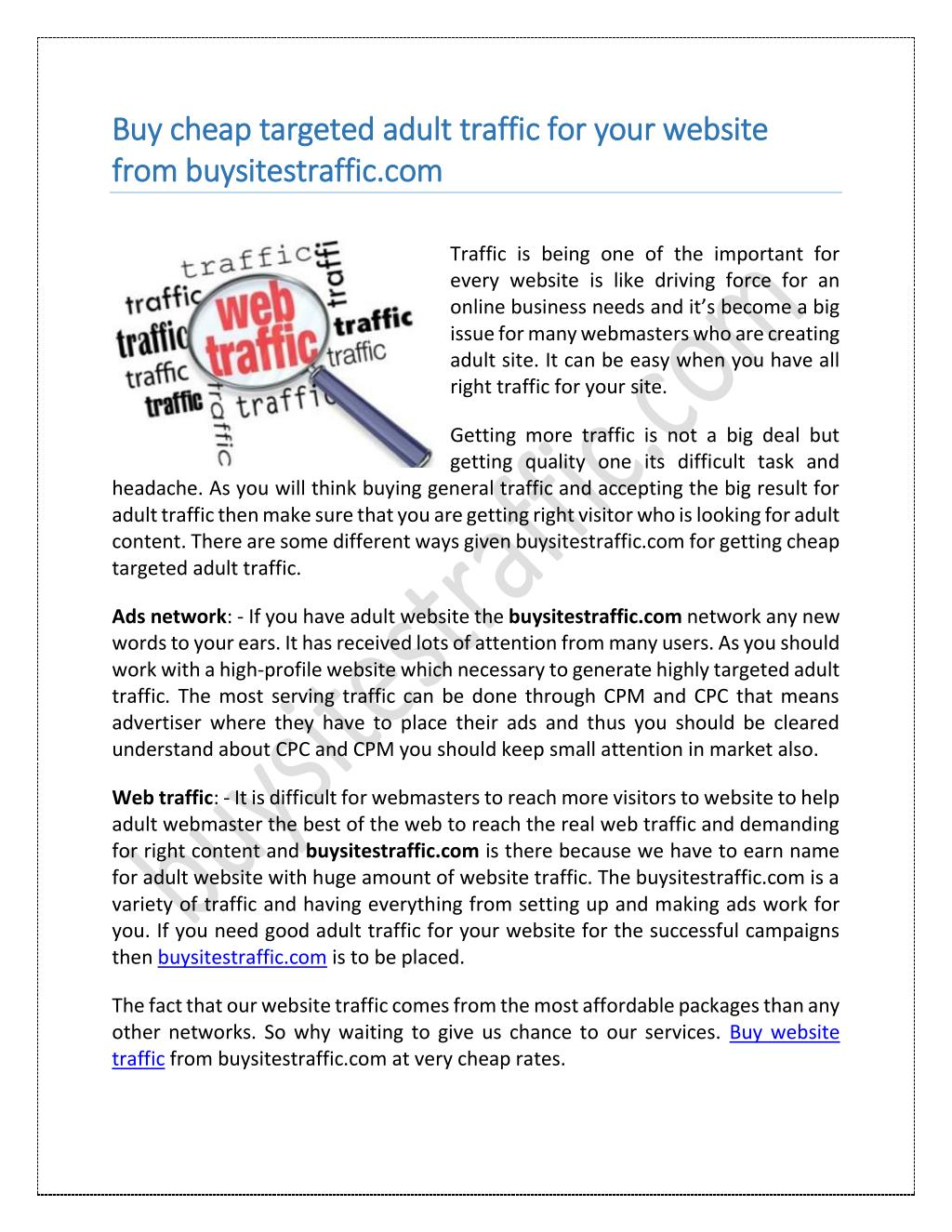 The Definitive Guide to Buy Web Traffic Here