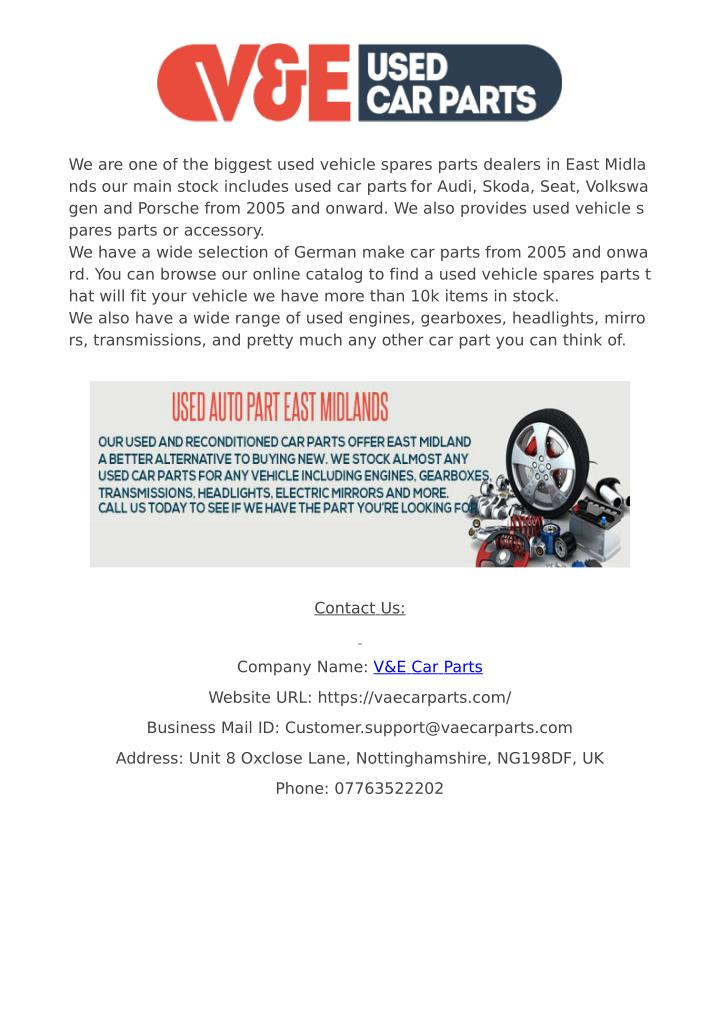 Ppt Buy Online Used Skoda Parts At Best Price Powerpoint
