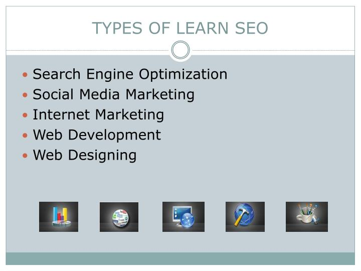 Types of learn seo