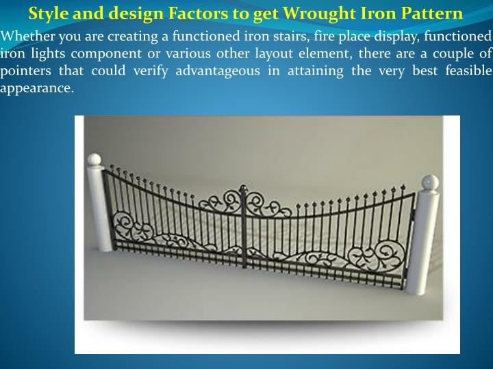 style and design factors to get wrought iron n.