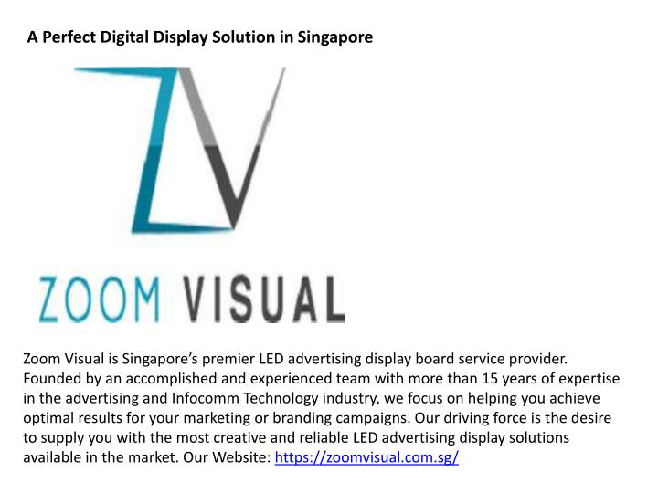 a perfect digital display solution in singapore n.