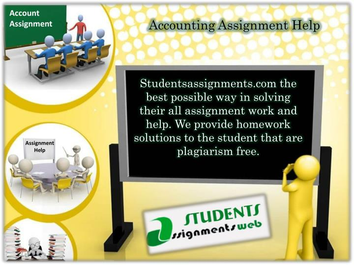 accouting assignment Welcome to no 1 in accounting assignment help and homework help writing service on internet we are number 1 choice for students to get their accounting projects done.