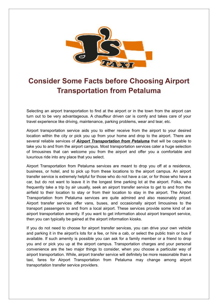 consider some facts before choosing airport n.