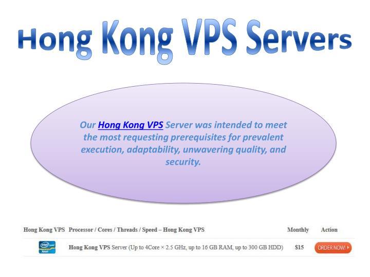 Hong kong vps servers