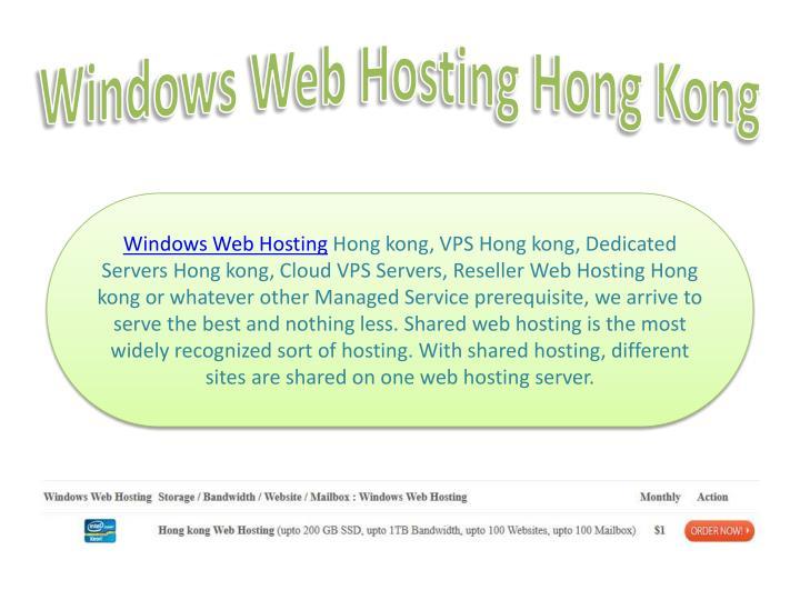 Windows Web Hosting Hong Kong