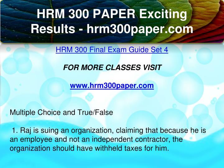 hrm final examination