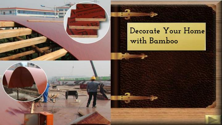 decorate your home with bamboo n.