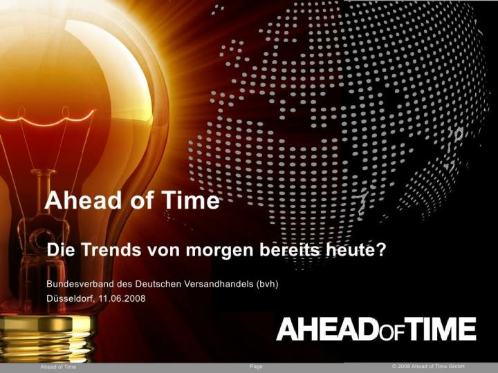 speech the trends of tomorrow already today n.