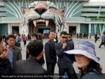 people gather at the entrance of a zoo reuters