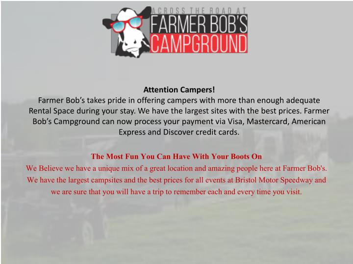 attention campers farmer bob s takes pride n.