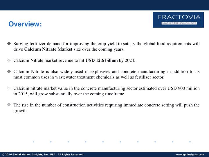 Ppt Ppt For Calcium Nitrate Market Forecast 2017 2024 Powerpoint