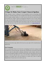 3 steps to make your carpet clean spotless