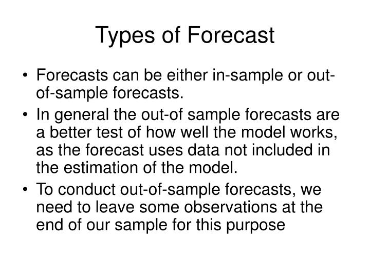 types of forecasting The navigation menu (left) for this module is called weather forecasting and the menu items are arranged in a recommended sequence, beginning with this introduction.