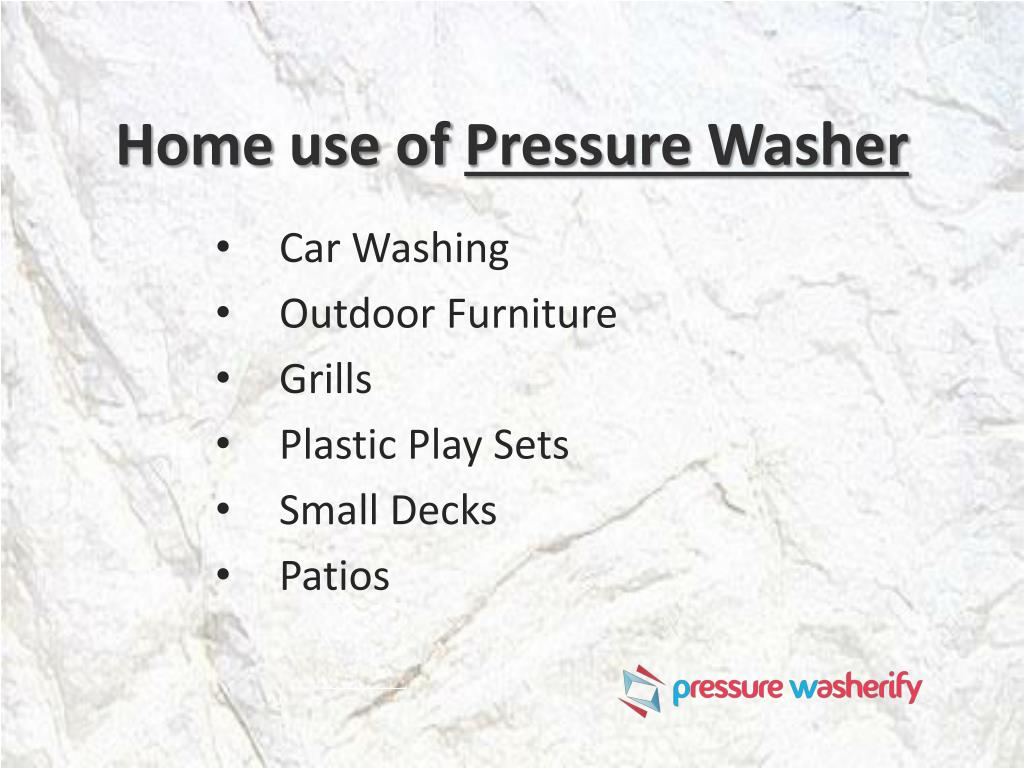 Ppt Ins Amp Outs Pressure Washer Powerpoint Presentation